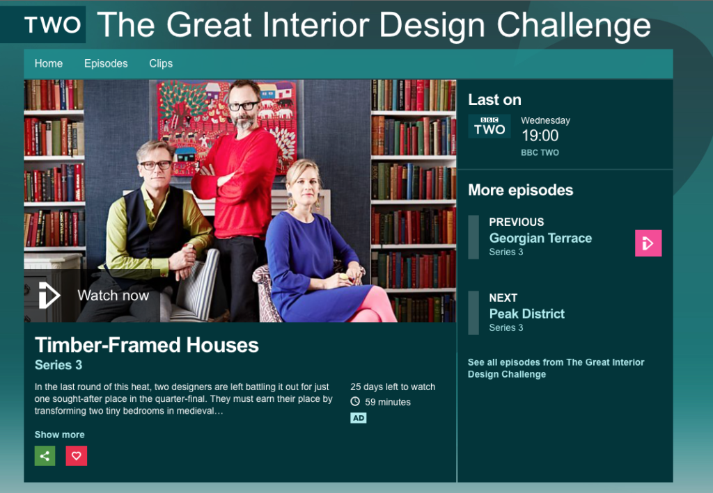 The Great Interior Design Challenge Bbc2 Redhead Design